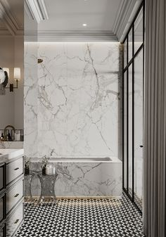 Beautiful Bathrooms, Deco, Master Bath, Bathtub, House Design, Interior Design, Home, Quartos, Art Deco