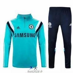 Soldes Nouveau survetement equipe de foot Chelsea Bleu Clair 2015 2016 pas  cheres chine