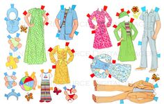 The Sunshine Fun Family Paper Doll Printable by mindfulresource