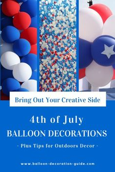 HOT 4th of July Independence Day Hanging Paper Balloon Garlands Kit Decor Little