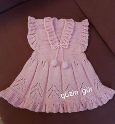 # I'm just finished # # baby # – kinder mode Baby Sweater Knitting Pattern, Lace Knitting Patterns, Knitting Designs, Baby Knitting, Vestidos Bebe Crochet, Knit Baby Dress, Sweater Design, Baby Sweaters, Baby Girl Dresses
