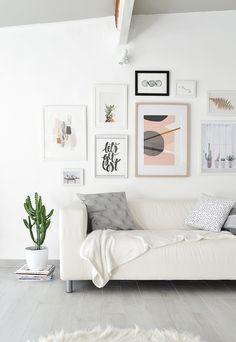 Passion Shake | Garden studio – Creating Gallery Wall | http://passionshake.com