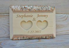 Personalized Birch Wood Ring Box Rustic Wedding Ring Bearer Pillow Wedding Ring…