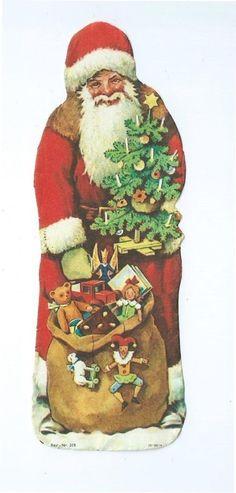 Alte Glanzbilder Oblaten Scraps Weihnachtsmann Nikolaus Santa Claus Weihnachten in Sammeln & Seltenes, Büro, Papier & Schreiben, Papier & Dokumente   eBay