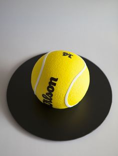 Tennis Ball Birthday Cake by Sweet Tiers Tennis Cupcakes, Tennis Cake, Fondant Cupcakes, Cupcake Cookies, Tennis Party, Realistic Cakes, Sport Cakes, Cake Shapes, Sculpted Cakes