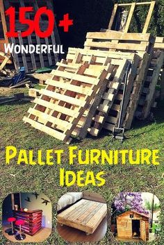 Wooden Pallet Furniture 150 Wonderful Pallet Furniture Ideas - Page 5 of 16 - Easy Pallet Ideas - So presenting here the very new 150 DIY pallet furniture ideas that are nothing but to put everyone in big amazement! Wooden Pallet Projects, Wooden Pallet Furniture, Pallet Crafts, Diy Projects, Furniture Ideas, Pallet Wood, Rustic Furniture, Outdoor Furniture, Cheap Furniture