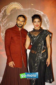 Ranveer Singh & Priyanka Chopra at the Promotion of Hindi movie 'Bajirao Mastani' at PVR ICON in Versova, Mumbai