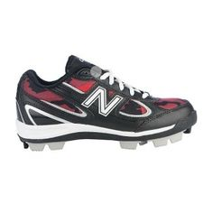 New Balance Pedroia 403 Baseball Cleats Kids Black Synthetic - ONLY $42.99