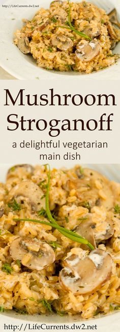 Mushroom Stroganoff: a delightful vegetarian main dish that your whole family will love!