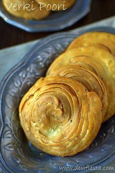 Verki Poori or spicy Phenori is a Konkan special snacks made in every household … - indian snacks Dry Snacks, Savory Snacks, Snack Recipes, Cooking Recipes, Vegetarian Recipes, Vegetarian Cooking, Cooking Tips, Breakfast Recipes, Diwali Snacks