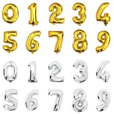 US $2.20 (Buy here: http://appdeal.ru/3i46 ) 1PC Large 32inch Gold Silver Number Balloon Aluminum Foil Helium Balloons Birthday Wedding Party Decoration Celebration Supplies for just US $2.20