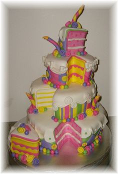 What a fun and whimsy cake!
