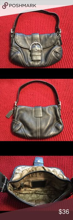 Coach Small shoulder purse Mint condition inside and out Black Like new Coach Bags Shoulder Bags