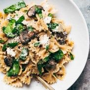 Date Night Mushroom Pasta with Goat Cheese - swimming in a white wine, garlic, and cream sauce. Perfect for a date night in! Date Night Mushroom Pasta with Goat Cheese - swimming in a white wine, garlic, and cream sauce. Perfect for a date night in! Healthy Recipes, Cooking Recipes, Tofu Recipes, Casseroles Healthy, Cajun Recipes, Pasta Recipes No Meat, Easy Cooking, Healthy Meals, Wheat Pasta Recipes