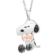 Peanuts Two-Tone Snoopy with Heart Pendant - Item 19560994   REEDS Jewelers