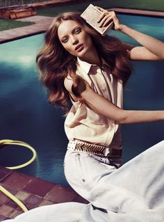 Editorial for Vogue, French Charm #vogue #voguemagazine #outfit #hair #makeup…