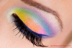 Different take on the rainbow eyes.