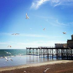 Bognor Beach in Bognor Regis, West Sussex Beaches Nearby, Best Uk Beaches, Bognor Regis, Chichester, Pebble Beach, What A Wonderful World, Wonders Of The World, Seaside, Theatre