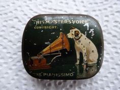 Vintage Tin advertising His masters voice gramophone needles tins | eBay