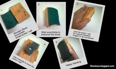 How to make a sanding block ~ Indian Woodworking,DIY,Arts,Crafts Blog