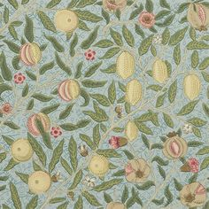 Fruit ( Previously known as Pomegranate ) by William Morris. The Original Morris & Co - Arts and crafts, fabrics and wallpaper designs by William Morris & Company William Morris Tapet, William Morris Wallpaper, Morris Wallpapers, Vintage Wallpapers, Lily Wallpaper, Wallpaper Online, Home Wallpaper, Fabric Wallpaper, Wallpaper Quotes