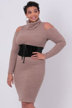 curvysense  belt  blackbelt  laceup  dress  sweater  coldshoulder  plussize 224fdd8e7