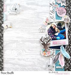 So Adorable | More than Words | Elodie Lusseau – Cocoa Vanilla Studio Scrapbook Page Layouts, Scrapbook Albums, Scrapbooking Ideas, Card Making Inspiration, Layout Inspiration, More Than Words, Star Designs, Studio Calico, Blog Page