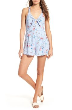Lush Lush Tie Front Romper available at #Nordstrom