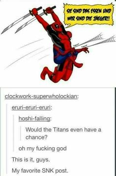 Attack on Titan with superheroes