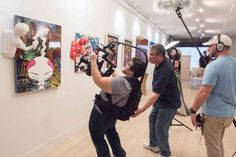 Whatever it takes to get the perfect shot of amazing pop #art from Miguel Paredes, in the #gallery at #WynwoodLab in the #Wynwood Arts District. Want to be a member and have your art displayed here? Call us. 305-400-9715 http://wynwoodlab.com/artists/