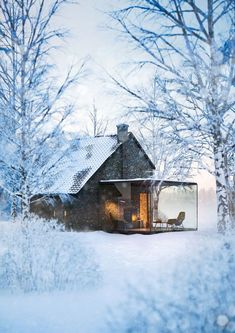 The Winter House from 1900 By: NU Design - Architecture and Home Decor - Bedroom - Bathroom - Kitchen And Living Room Interior Design Decorating Ideas - Beautiful Homes, Beautiful Places, Cabins And Cottages, Tiny Cabins, Earthship, Cabins In The Woods, Future House, Interior Architecture, Interior Design