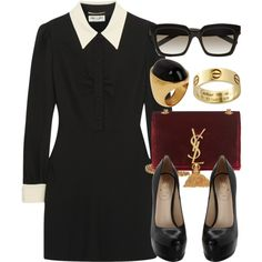 Style #9022 by vany-alvarado on Polyvore featuring Yves Saint Laurent and Fendi