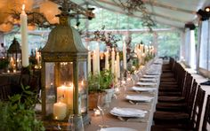 Love the simplicity of the table setting and centerpieces. Elegant. Photo from Jung Lee at Fete.
