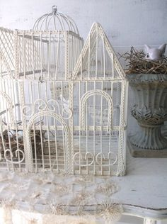 Vintage Victorian Shabby Birdcage. French by 3vintagehearts