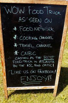 Smart chalkboard sign!