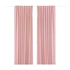(One Panel Back Tap Top) Minimalist Pink Solid Energy Saving Curtain – USD $ 29.99