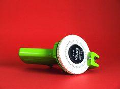 Rotex 410 Label Maker  Vintage Retro Lime Green Embossed