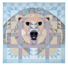 Ice Bear, animal quilt, quilt block, polar bear, quilting, quilts, quilt pattern