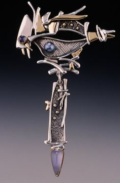 Barry Perez is contemporary artist whose medium is hand-fabricated jewelry, using Sterling, and gold and an assortment of semiprecious stones. Grey Art, Gray, Premier Jewelry, Lost Art, Classic Collection, Wedding Bands, Jewelery, Jewelry Design, Pendant