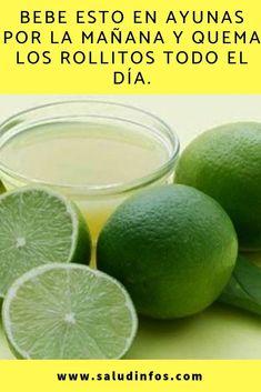 Bebe esto en ayunas por la mañana y quema los rollitos todo el día. #ayunas #quema #rollitos Healthy Juices, Healthy Drinks, Healthy Exercise, Tea Recipes, Drinking Tea, Healthy Life, Diabetes, Smoothies, Lime