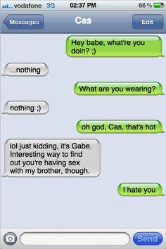 Gabriel's stolen Castiel's phone... again!