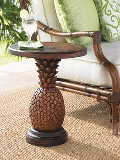 Houseplants for Better Sleep Tommy Bahama Outdoor Alfresco Living Side Table Finish: Brown Tropical Home Decor, Tropical Interior, Tropical Style, Tropical Houses, Tropical Colors, Tropical Furniture, Tropical Rugs, Tropical Paradise, West Indies Decor