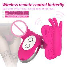 USB Rechargeable Rotation Gode Vibrateur Sans Fil Télécommande Papillon Clitoridien Vibrateur Culotte Érotique Sex Toys pour Femme