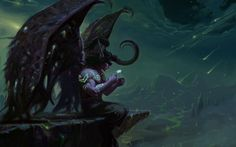 World of Warcraft-Illidan Stormrage World Of Warcraft, Warcraft Art, Dark Fantasy Art, Fantasy Artwork, Dark Art, Final Fantasy, Illidan Stormrage, War Craft, Ange Demon