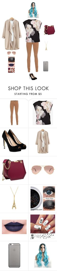 """""""J K W H B F B"""" by queen-kaitlyn ❤ liked on Polyvore featuring AG Adriano Goldschmied, Ted Baker, GUESS, Ray-Ban, Jeffree Star and Native Union"""