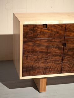 J.Rusten | Wong credenza Maple and Claro walnut