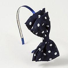 Polka Dot Bow Headband