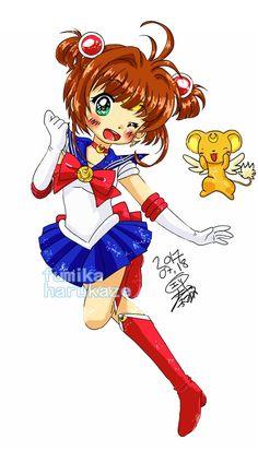 Card Captor Sakura x Sailor Moon Crossover by fumikaharukaze.deviantart.com on @DeviantArt