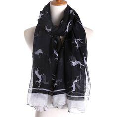 Dashing Deer Scarf in Black, 30% discount @ PatPat Mom Baby Shopping App