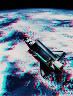 3D anaglyph Space Shuttle
